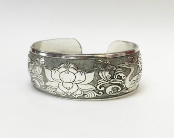 LIQUIDATION SALE!!!  Lotus cuff bracelet