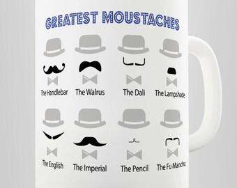 Movember Greatest Moustaches Ceramic Novelty Gift Mug