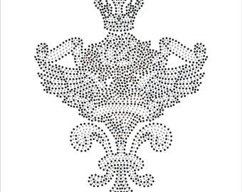 Heart Wings Crown Rhinestone Applique