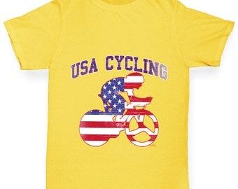 Boy's USA Cycling T-Shirt