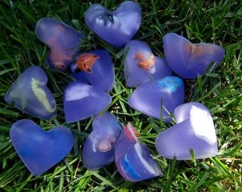 Set of 15 Trinket Filled Heart Soaps