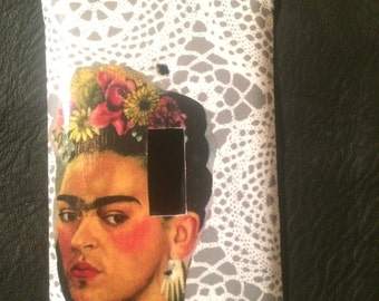 Frida collage single switch plate