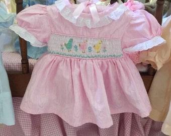 Vinyage Rose Cottage Baby Dress Sweet Summer