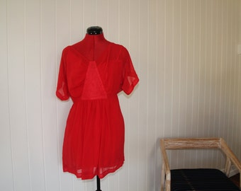 Little Red dress and slip, size 8 AU