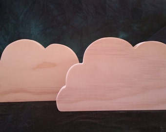 Large Cloud Cut Outs Set of 2 -006