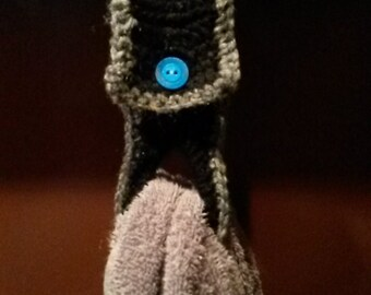 Crocheted Kitchen Towel Holder