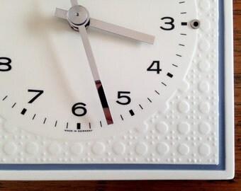 Beautiful Kienzle Vintage Kitchen Clock, Ceramic, 1960s from Germany