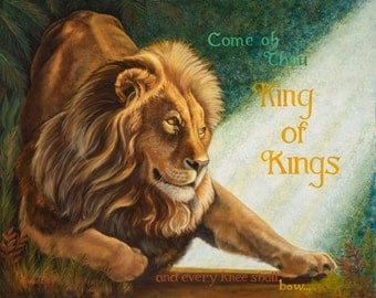 Every Knee Shall Bow - oil painting - by Annie T