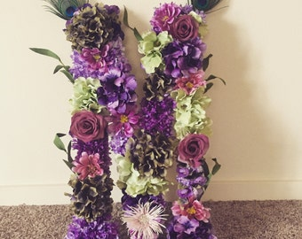 Customized Floral Letter