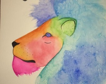 Leo Watercolor Painting