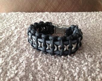 Wide Hex Nut Bracelet