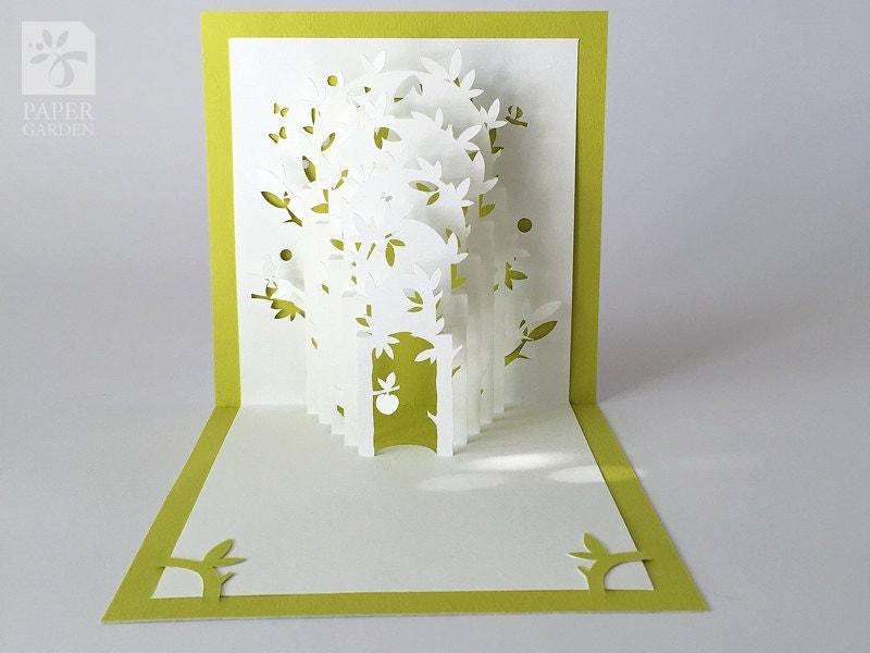 Papercut Template Pop-up Card Eden Instant Download SVG