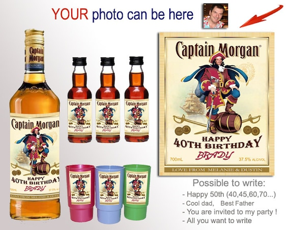 Personalized captain morgan label Unique gift by ...
