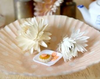 Cute mini orange pie dollhouse miniature food
