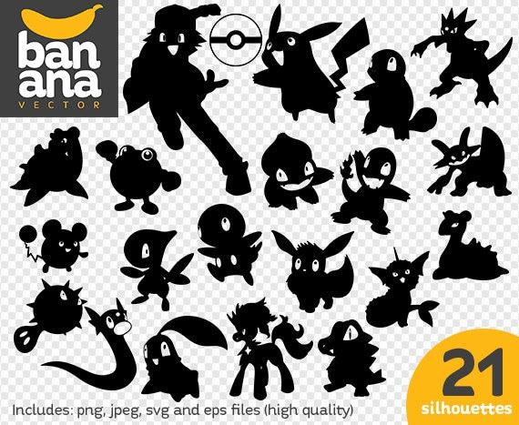sale pokemon silhouette png jpg svg eps files high