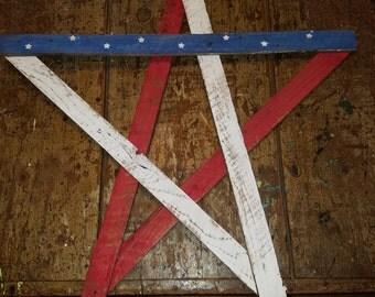 American flag lath star