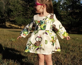 Owl Dress for Girls! Hand monogramming and/or hand embellishment available!