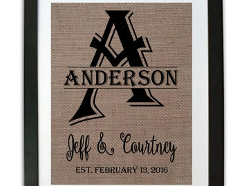2nd Anniversary Gift for Her Anniversary Centerpiece Wedding Gifts Personalized  year wedding anniversary Gift for Her Bridal Shower Burlap
