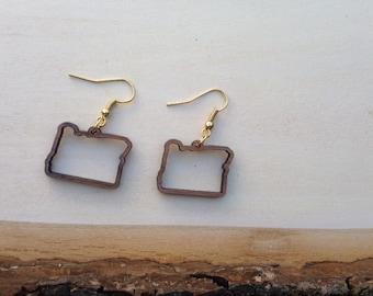 Oregon walnut earrings