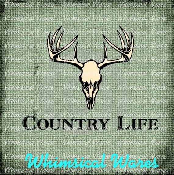 Country Life: Deer Skull Country Life Digital Download Studio File Svg