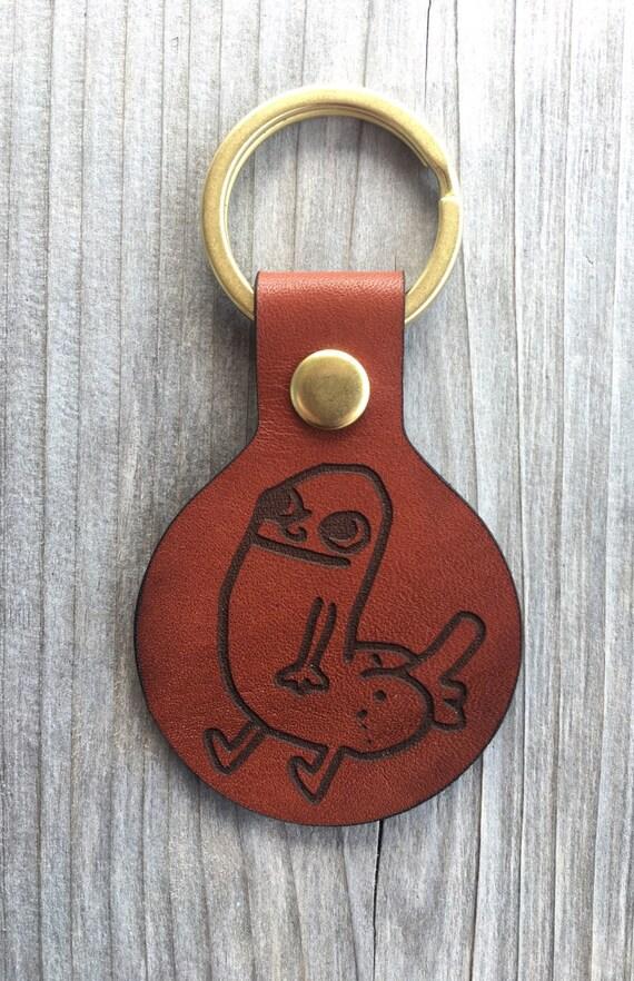 Dickbutt keychain