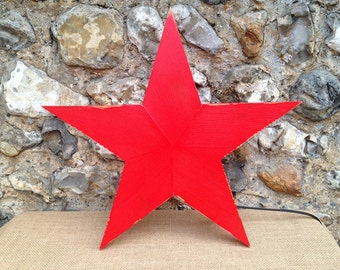 Red Star Lamp from Reclaimed Timber
