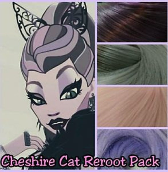 Ever After High Kitty's Mother Cheshire Cat Custom Doll Nylon Hair Color Blend Kit to Reroot your own OOAK Ever After High Doll