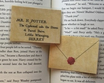 Harry Potter Double-Sided Bookmark - Letter From Hogwarts with Hogwarts Seal + Harry's Address!