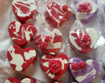Heart Shape Chocolate Covered Oreos, Valentines Day Chocolate