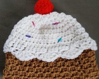 Kaimalie Cupcake Beanie, Cupcake Beanie, Newborn Photo Prop, Kids Beanie, Cupcakes, Photoshoot Prop, Halloween Costume, HAT ONLY