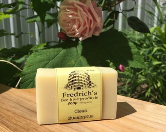 Clean Eucalyptus - 6 bars - natural handmade soap