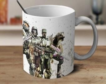 Halo 5, Halo Game, Halo Coffee Mug, Mug for Gamer, Watercolor Mug, Magic Coffee Mug, Color Changing Mug,