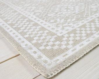 Caspian rug, grey and white