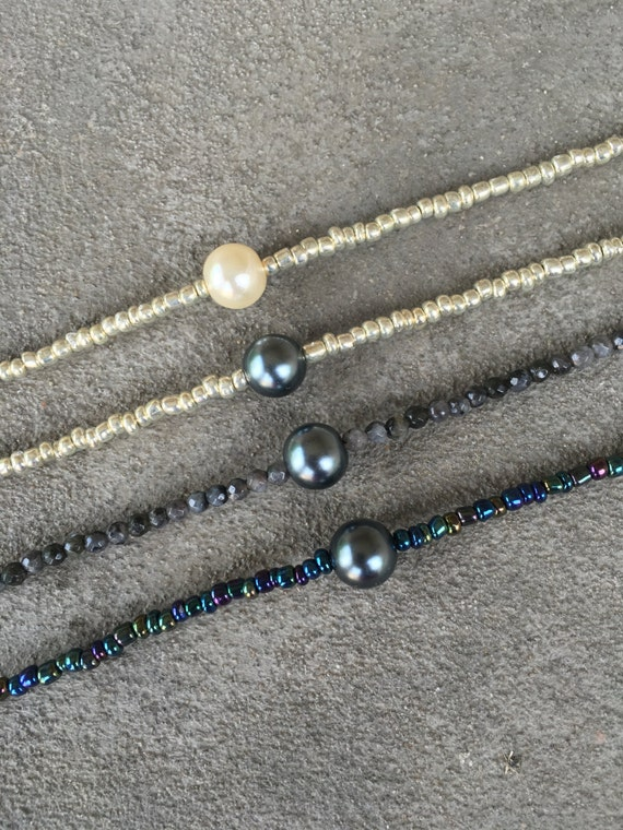 Beaded Pearl Necklace w/ clasp