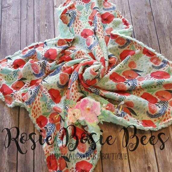 Tula Secret Garden Minky Snuggle Blanket