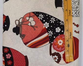 Marcus Fabrics, Heat Wave Jugs, Michele D'Amore, Cream Background with black/white/red/pink jugs, quilting fabric