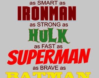 Daddy superhero!
