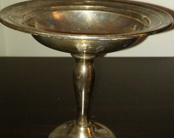 Vintage Gorham Silverplate Pedestal Dish - Silver Plate