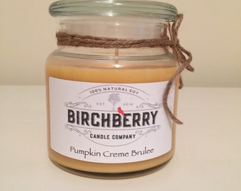 Pumpkin Creme Brulee 14.5 oz. 100% Soy Candle