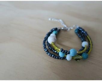 Pewter Beaded Bracelet - 12