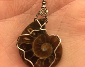 Fossil necklace pendant