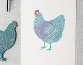 Chicken feeling good ' handprinted limited edition