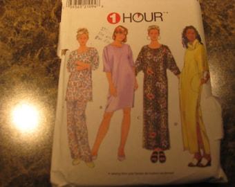 Boss Simplicity 7940 Pajamas shirts short and long night and inside dress cut a medium so most because xs-s-m