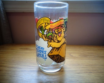 Vintage 1981 The Great Muppet Caper McDonalds Drinking Glass