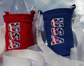 USA Insulated Water Bottle Sling
