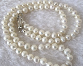 White Freshwater Pearl Necklace.