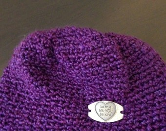 "Beanie ""Be True, Be You, Be Kind"" Tag"