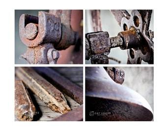 Rust, Set of 4 Prints
