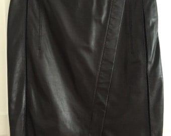 ESCADA soft lamb leather skirt- size 36 black