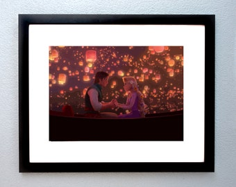 Tangled A4 Digital Painting Print